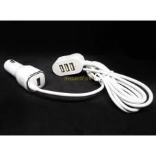 АЗУ 3+1 USB с удлиненным кабелем
