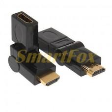 Адаптер HDMI M/F уголок вращающийся на 180 градусов