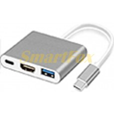 Адаптер 3в1 multiport USB Type-C/Type-C USB 3.1/HDMI/USB 3.0