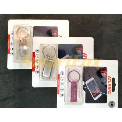 Флеш память USB 2.0 64Gb ATLANFA AT-U2мини с кольцом для ключей