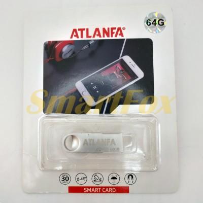 Флеш память USB 2.0 64Gb ATLANFA AT-U3мини с отверствиемдля ключей