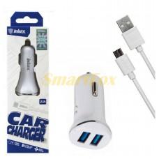 АЗУ 2USB + кабель USB/microUSB INKAX CC-12-M-V8