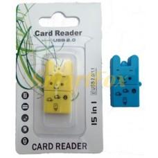 Картридер T-Flash/Micro SD Micro Card Reader ЗАЙЧИК (прямоугольный)