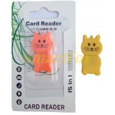 Картридер T-Flash/Micro SD Micro Card Reader КОТИК