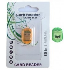 Картридер T-Flash/Micro SD Micro Card Reader ОВАЛ (прозрачный)