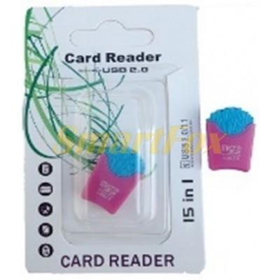 Картридер T-Flash/Micro SD Micro Card Reader ПАКЕТ С КАРТОШКОЙ ФРИ