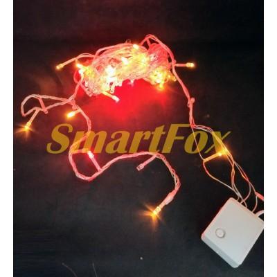 Гирлянда LED100WW-1 с прозрачным проводом (теплый белый) (без обмена, без возврата)