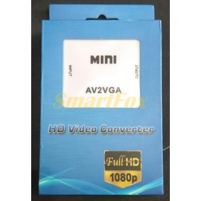 Конвертер AV S-Video TV/VGA (коробка)