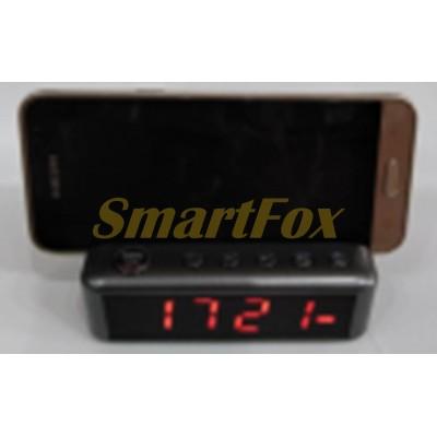 Портативная колонка Bluetooth HDY-G24 с часами и подставкой для телефона (10.5х9.2 см)