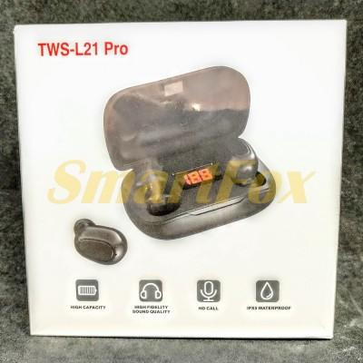 Блютуз гарнитура TWS-L21 Pro + зарядный кейс