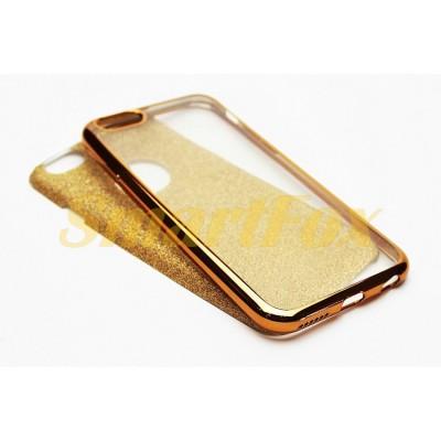 Чехол FASHION CASE COV-002 для IPHONE 6 силиконовый прозрачный блестящий с бампером под металл