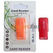Картридер T-Flash/Micro SD Micro Card Reader прямоугольный с колпачком