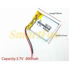 Аккумулятор CL 582728 3,7V 400mAh
