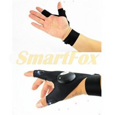 Перчатка с фонариком Lighted fishing Gloves