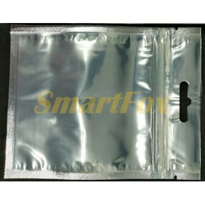 Пакет Саше 140х110 серебро/прозрачный zip-замок, европодвес