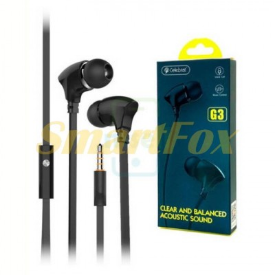 Наушники вакуумные с микрофоном CELEBRAT G3