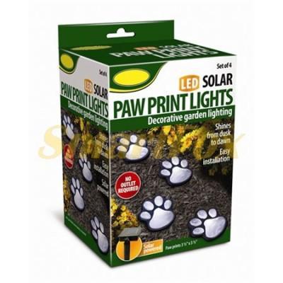 Светящиеся следы Paw Prints Lights на солнечной батарее