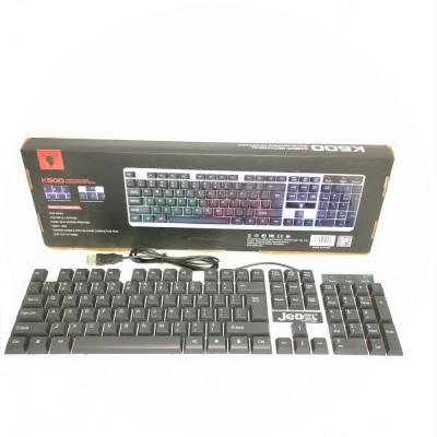 Клавиатура проводная JEDEL K500 с подсветкой