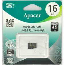 Карта памяти 16Gb Apacer microSD class 10