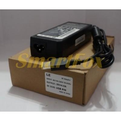 ЗУ для ноутбуков LENOVO 20V 4,5A USB 90W (5,5х2,1 square)