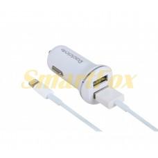 АЗУ 2USB REDDAX RDX-102 mini SMART DUAL USB/IPHONE 5G 2,4A WHITE