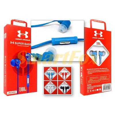 Наушники вакуумные с микрофоном JB-3400 (цена за 1шт,продажа только упаковкой 20штук)