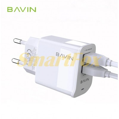 СЗУ 2USB Bavin PC506Y + кабель microUSB (V8)