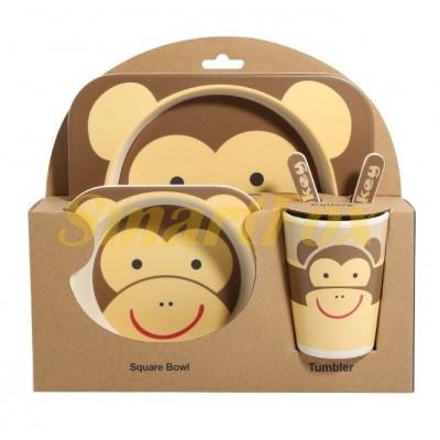 Набор детской посуды (бамбуковое волокно) SL-246-23 monkey