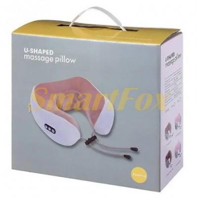 Массажная подушка для шеи с памятью U-Shaped Upgrade Vibration Pillow DL131