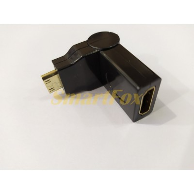 Адаптер (переходник) HDMI F/mini HDMI M 180°