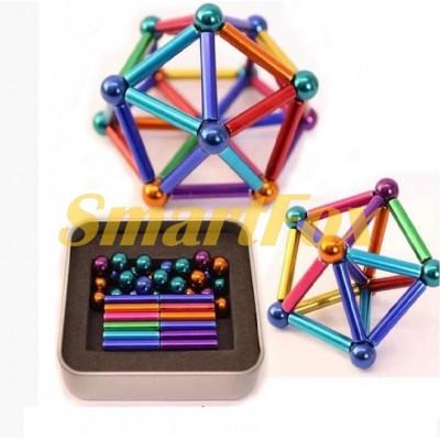 Конструктор магнитный (набор палочек и шариков) SL-1182