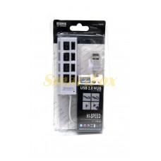 USB хаб 4 высокоскоростных порта USB 2.0 с переключателями БЕЛЫЙ