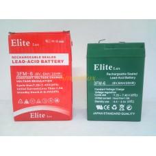 Аккумулятор ELITE 6V/6AH