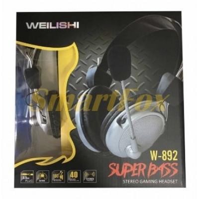 Наушники накладные с микрофоном W892 игровые
