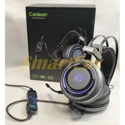 Наушники накладные с микрофоном игровые CANLEEN K28 USB