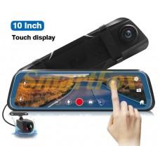Авторегистратор-зеркало с камерой заднего вида DVR L1023