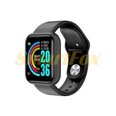 Часы Smart Watch D20 + фитнес трекер (черный)