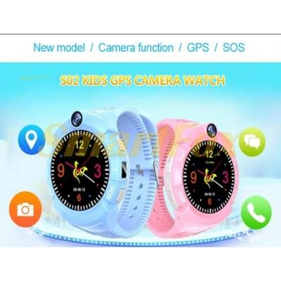 Детские Smart часы GPS-трекером+camera S02