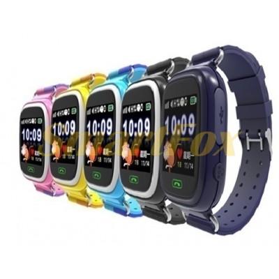 Детские Smart часы с GPS-трекером Q90 (розовый,голубой,синий,черный,желтый)