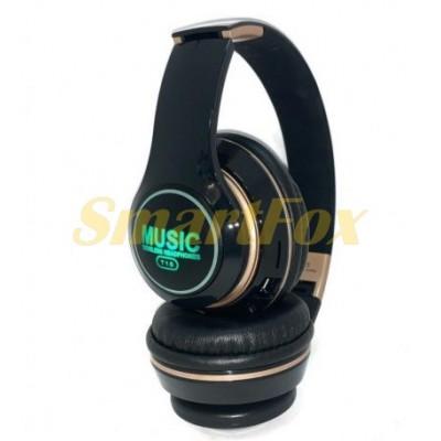 Наушники беспроводные Bluetooth T15 складные с подсветкой