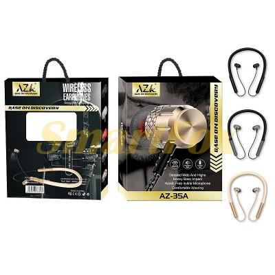 Наушники беспроводные Bluetooth с микрофоном магнит AZ-35A-BT
