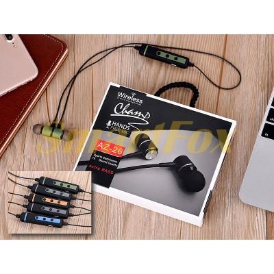 Наушники беспроводные Bluetooth с микрофоном магнит AZ-26-BT