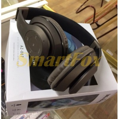 Наушники беспроводные Bluetooth AZ-007-BT (SD+FM)