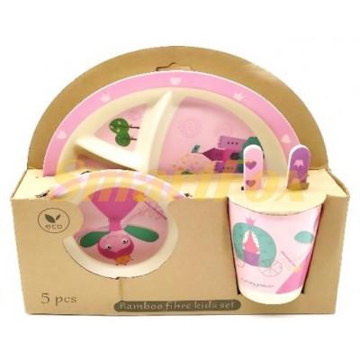 Набор детской посуды (бамбуковое волокно) SL-246-43
