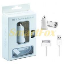 АЗУ USB 2в1 + кабель USB/IPHONE 4