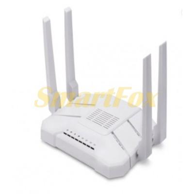 Роутер Wi-Fi WE2426-B Гигабитный 2.4GHz/5.8GHz 1200Mbps (антенны внешние: 2х2.4G+2х5G, 4 LAN+1 WAN+
