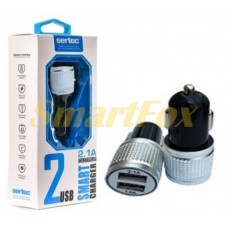 АЗУ 2USB для IPHONE 5 SERTEC ST-215 BLACK SILVER/BLACK GOLD/WHITE GOLD/WHITE SILVER