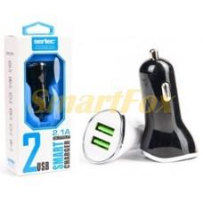 АЗУ 2USB для IPHONE 5 SERTEC ST-219 BLACK/WHITE