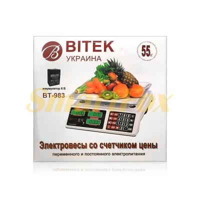 Весы электронные торговые BITEK BT-983 до 55 кг с аккумулятором 6В