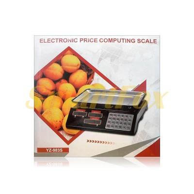 Весы электронные торговые BITEK YZ-983S до 55 кг с металлическими кнопками и аккумулятором 4В